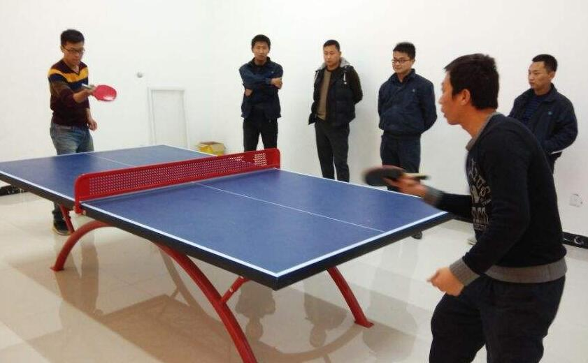 成都雷竞技房厂家员工乒乓球比赛