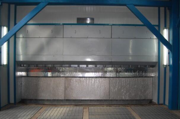 无泵水帘喷漆室